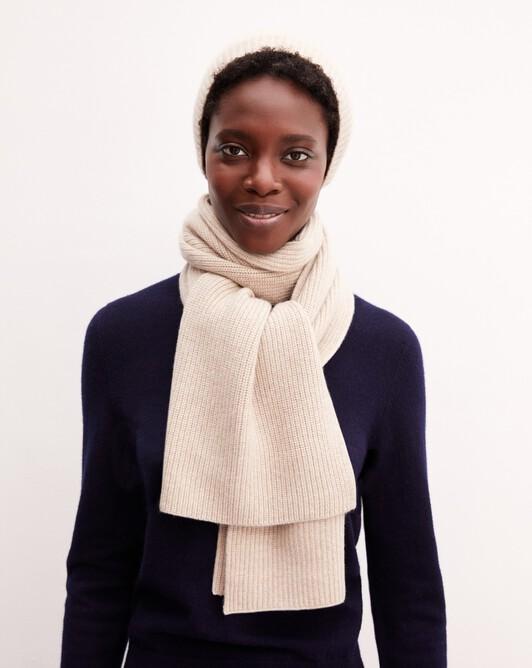 Half cardigan rib scarf - Zanskar