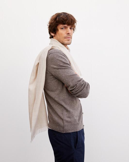 Cashmere voile scarf 150 cm x 55 cm - Latte