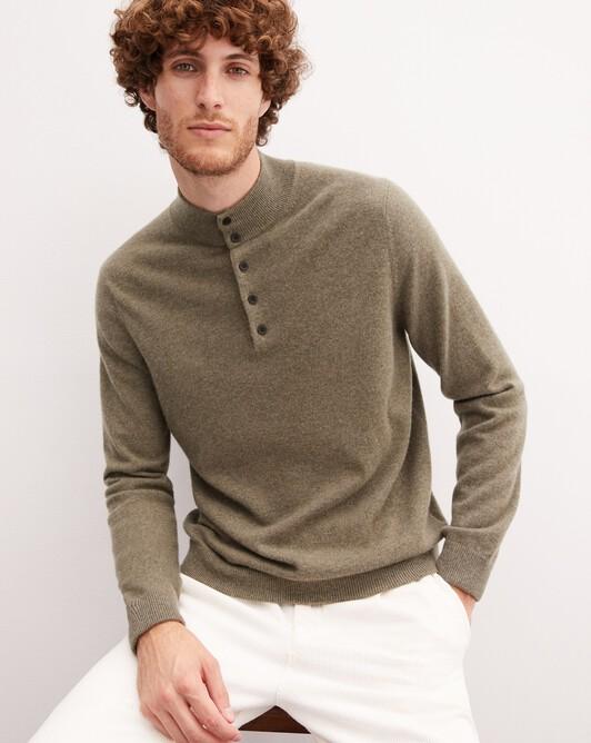 Sweat-shirt bicolore - Kaki/ zanskar