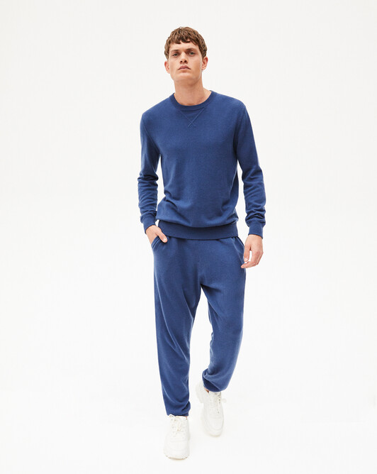 Casual jersey trousers - Indigo