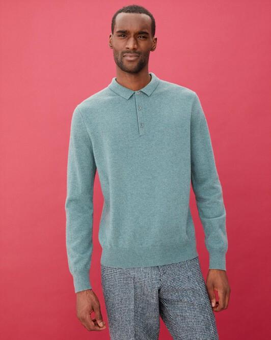 Three-button polo shirt - Horizon