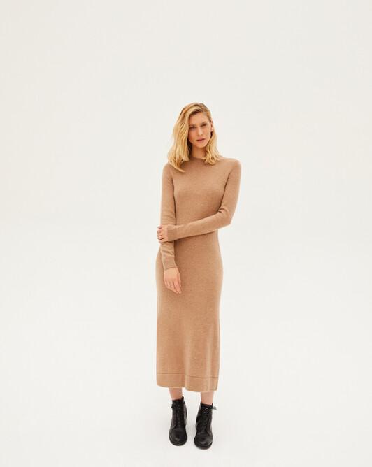 Long jersey dress - Camel