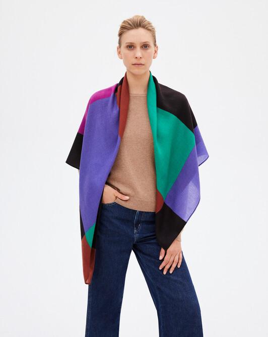 Carré color block - Multicoloris