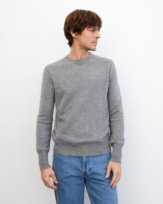 Classic crew neck pullover - Flannel grey