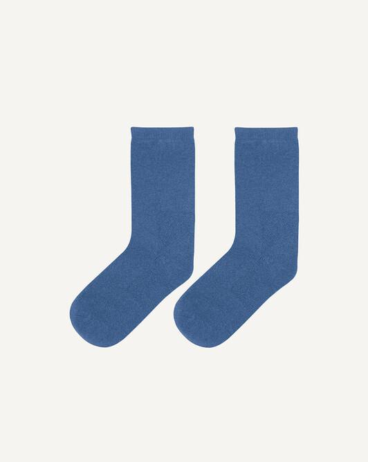 Chaussettes basses unies - Bleu shetland