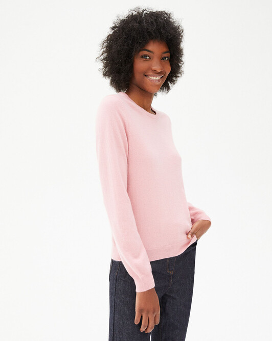 Classic crew neck sweater - Sorbet