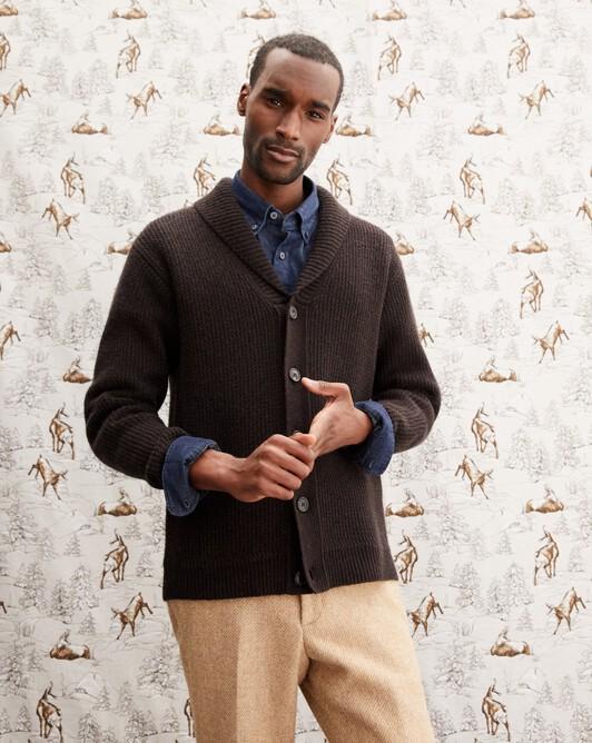 Shawl collar jacket - Ebony
