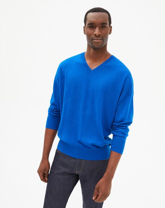 Extrafine loose V-neck sweater - Bosphorus