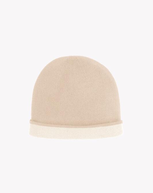 Two-colour off-gauge hat - Zanskar/autumn white
