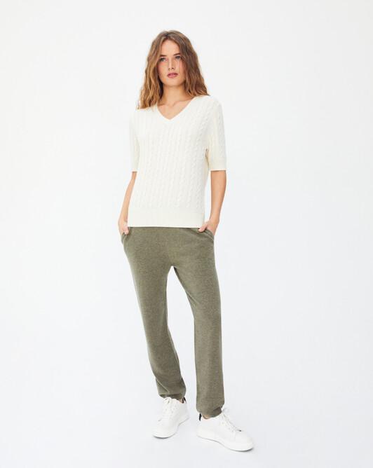 Casual carrot trousers - Khaki