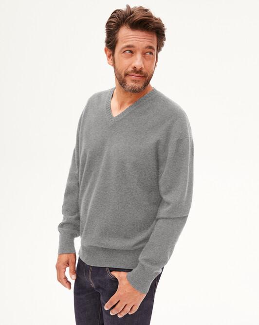 Pull V cachemire laine Indispensable - Flanelle