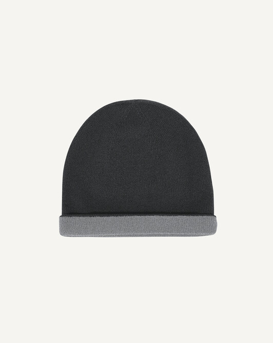 Two-colour off-gauge hat - Charcoal grey/flannel grey