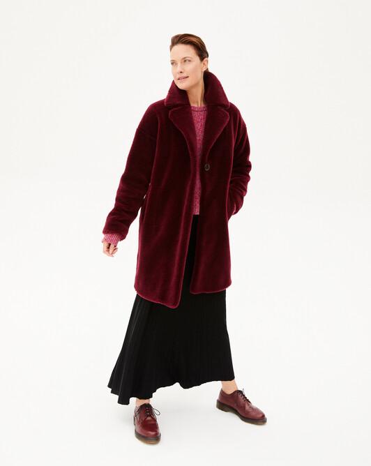 Manteau fourrure de laine - Dahlia