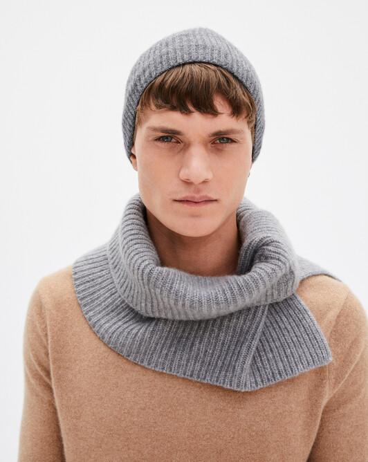 Press-studs rib collar - Flannel grey