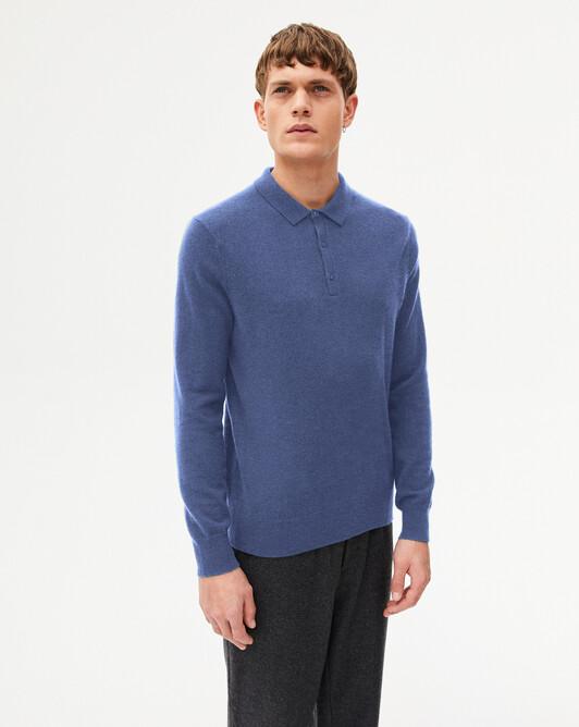 Three-button polo shirt - Indigo