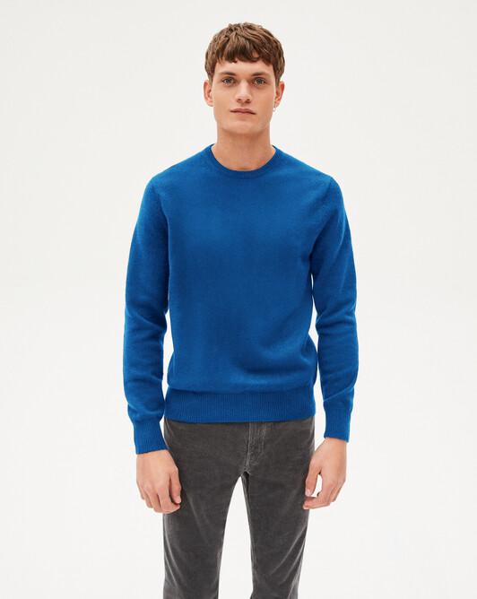 4 ply crew neck sweater - Mykonos