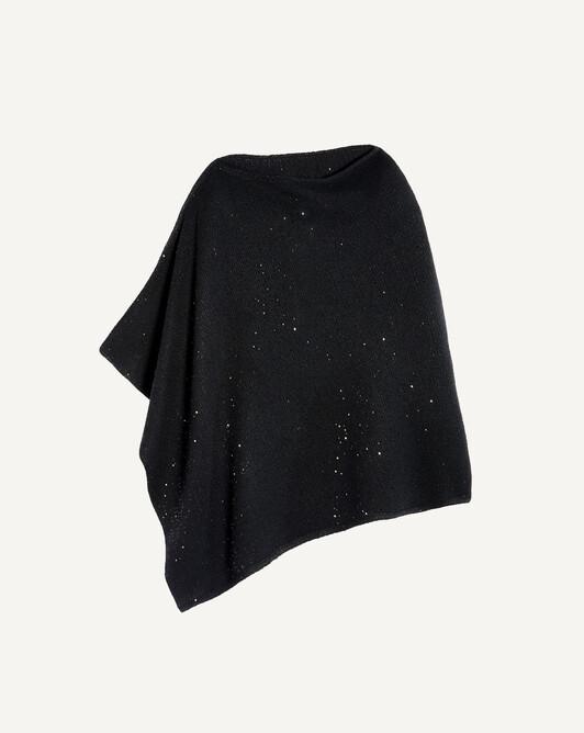 Poncho paillettes - Noir