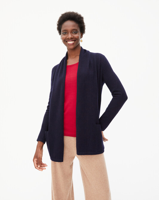 Cosy jacket - Navy blue