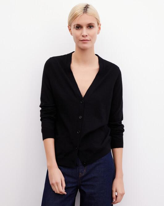 Contemporary extrafine cardigan - Black