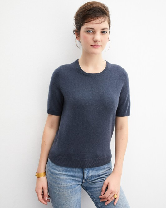 Classic short-sleeved crew neck pullover - Incense