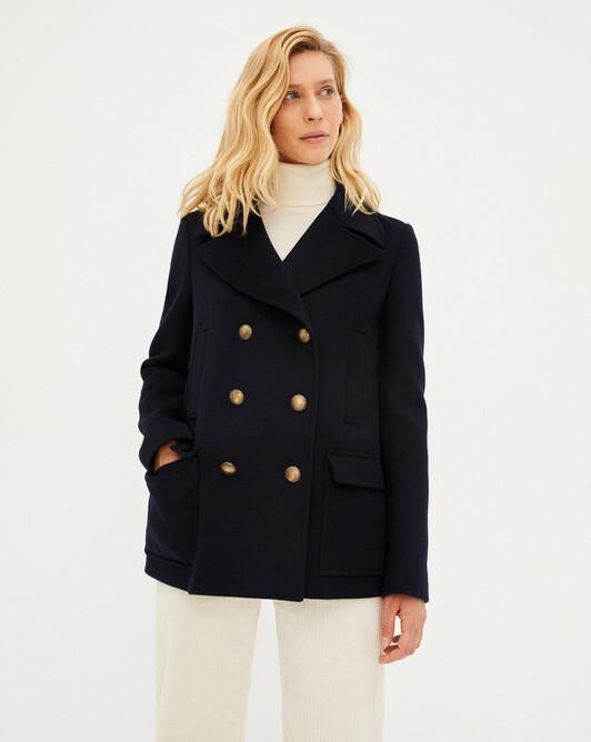 Double face sailor coat - Navy blue