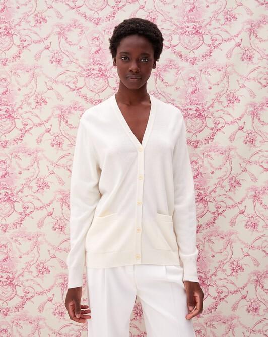 Classic cardigan - Autumn white