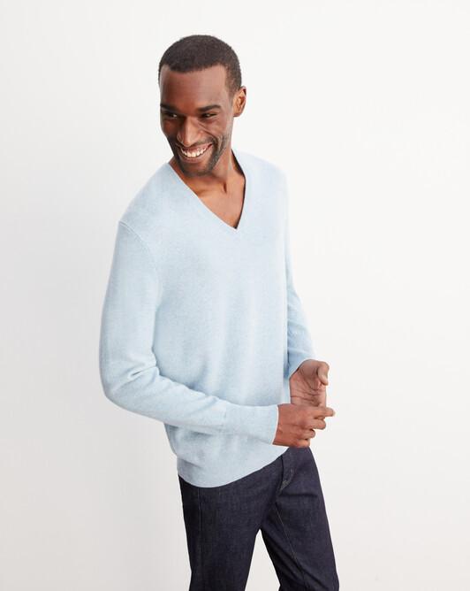 Classic V-neck pullover - Jean