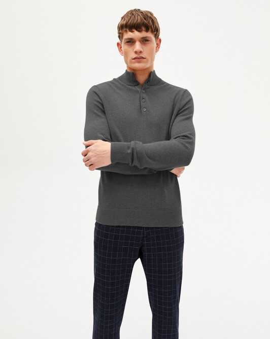 Sweat-shirt bicolore - Loup/givre