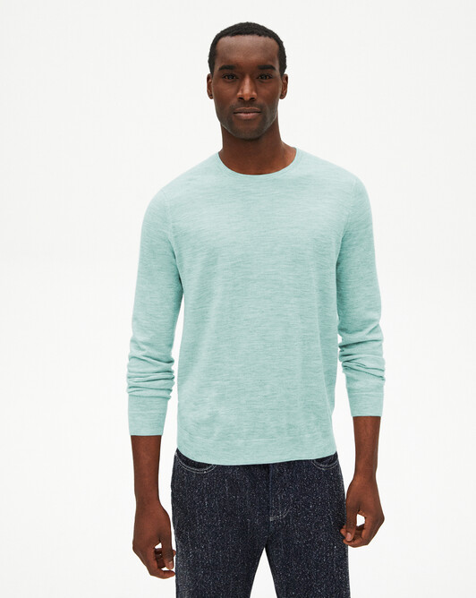 Extrafine crew-neck sweater - Bora bora