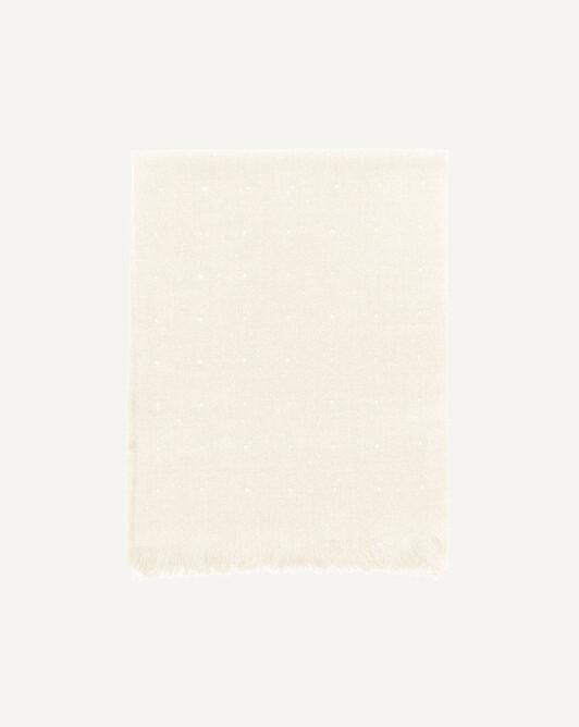 Écharpe voile de cachemire strass 150 cm x 50 cm - Naturel