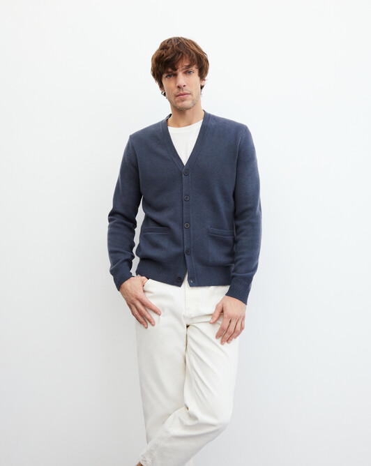 4-ply cardigan - Incense