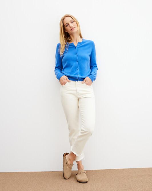 Cardigan classique - Bleu de france