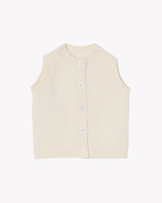 Sleeveless cardigan - Autumn white