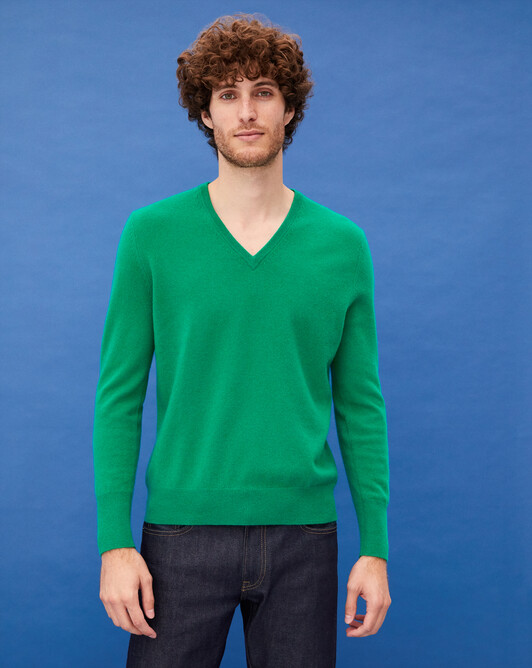Classic V-neck pullover - Peppermint