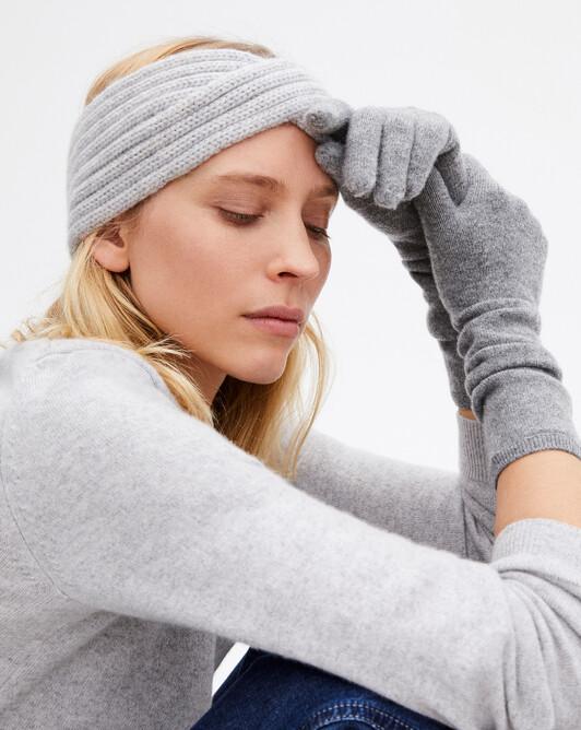 Long gloves - Flannel grey