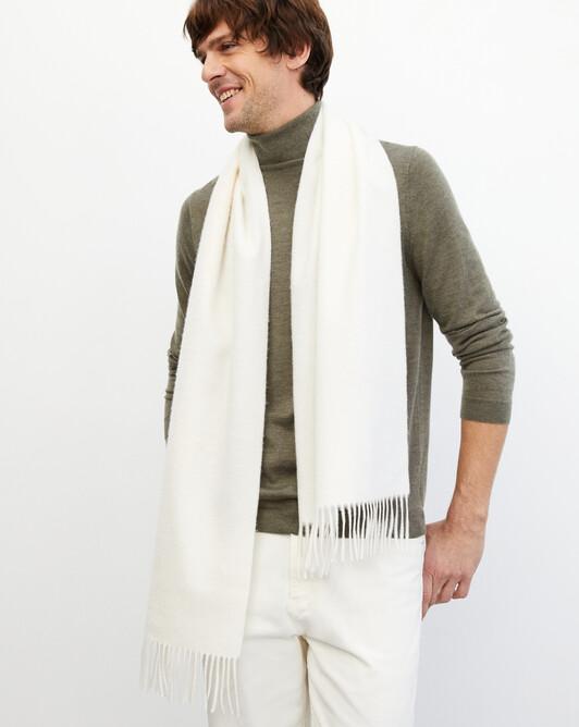 Classic scarf 170 cm x 35 cm - Autumn white