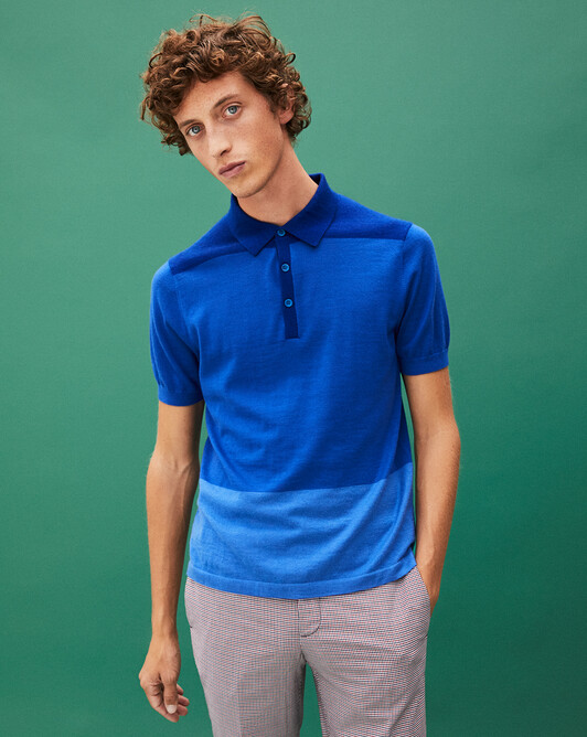 Polo color-block - Bleu atlantide/mykonos/mousquetaire