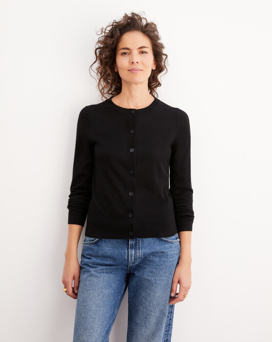 Cardigan ultrafin contemporain - Noir