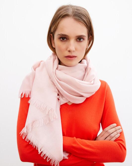 Cashmere voile stole 180 cm x 85 cm - Dragee pink