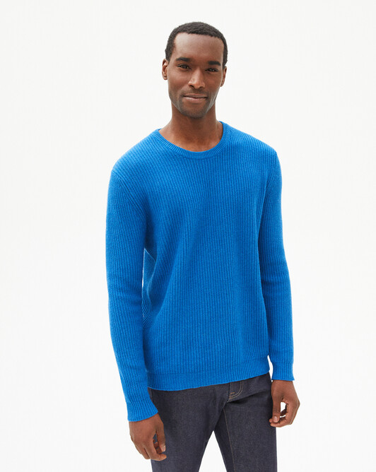 Ribbed crew-neck pullover - Bosphorus