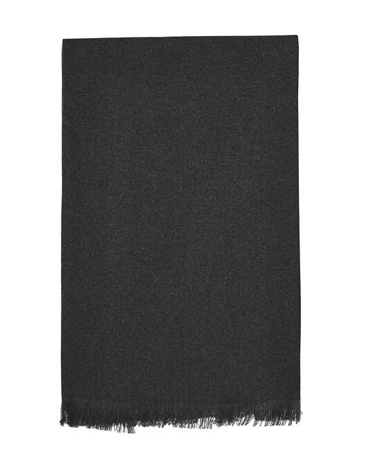 Écharpe voile de cachemire 150 cm x 55 cm - Anthracite
