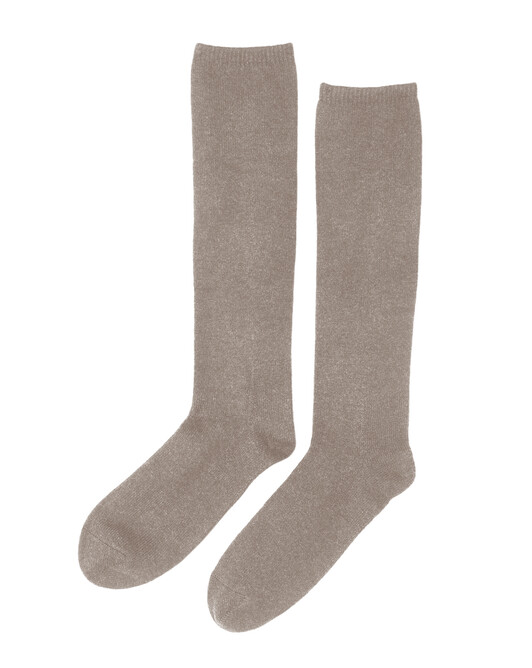 Plain long socks - Desert beige