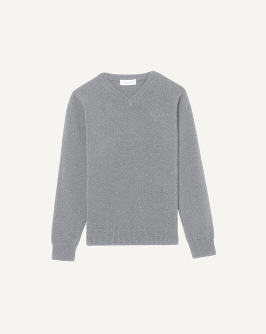 Kids classic V-neck sweater - Flannel grey