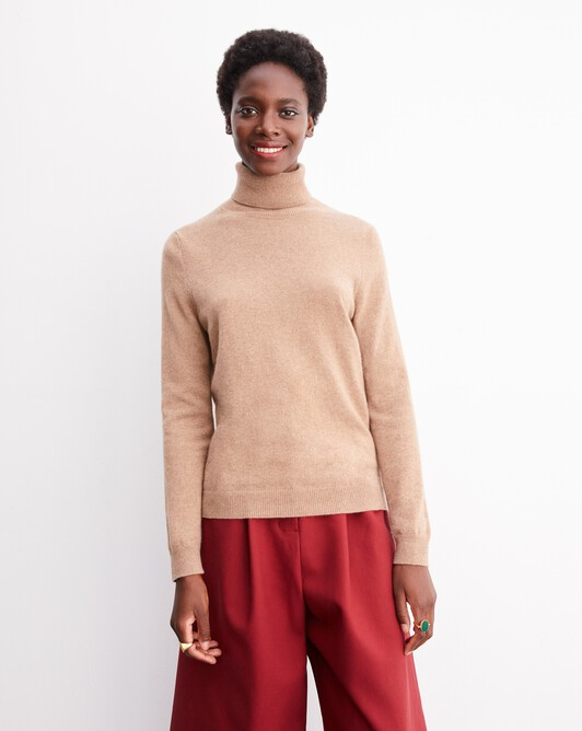 Classic roll-neck - Camel