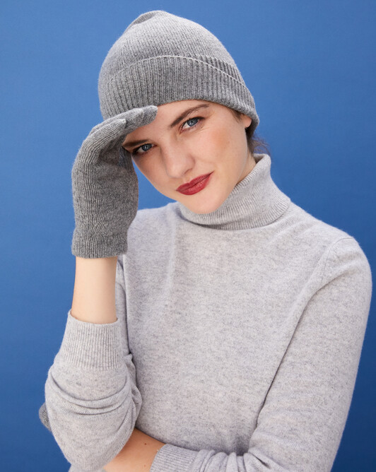 Ladie's gloves - Flannel grey