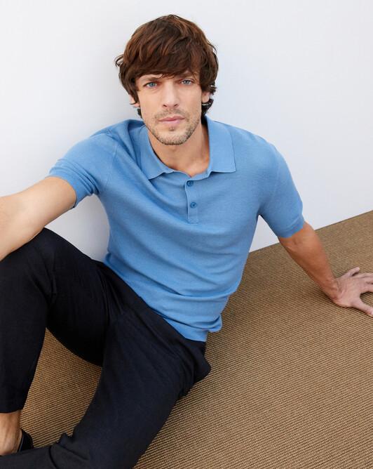 Piqué polo shirt - Egyptian blue