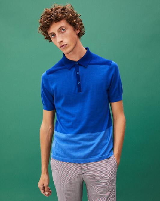 Block-colour polo shirt - Atlantis blue/mykonos blue/musketeer blue