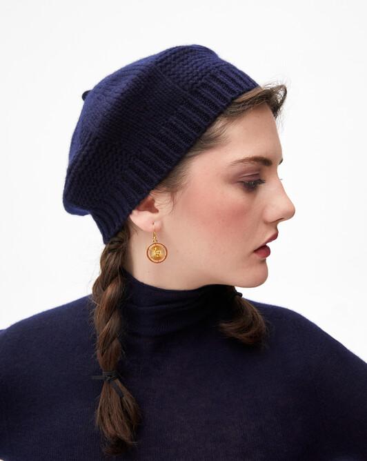 Beret hat - Navy blue