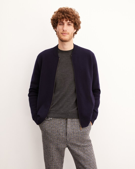 Cashmere milano bomber - Navy blue