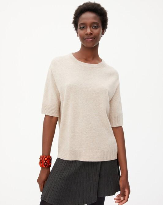Contemporary short-sleeved maxi crew neck pullover - Zanskar